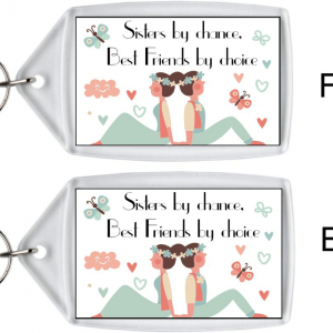 Sister Keyring – Best Friends By Choice Birthday Gifts