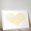 Golden Wedding 50th Anniversary Word Art Gift Anniversary Gifts