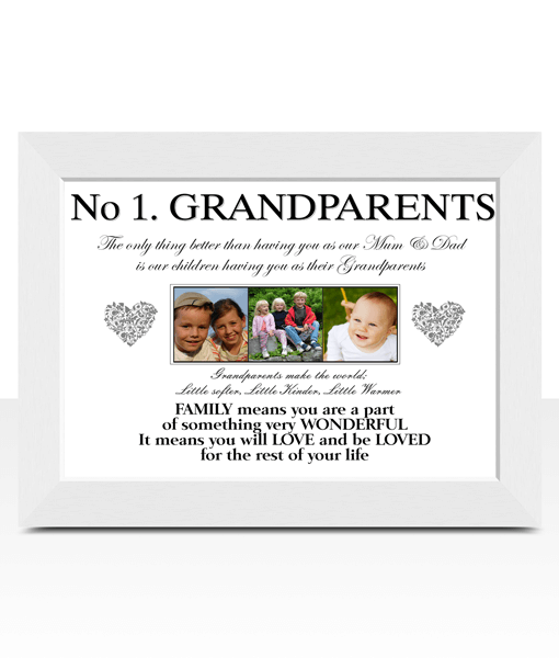 No 1 Grandparents Personalised Photo Gift Fathers Day Gifts