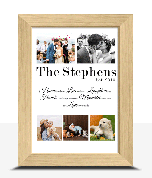 Personalised Family Gallery Photo Print Family