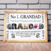 No 1 GRANDAD Personalised Photo Gift Fathers Day Gifts