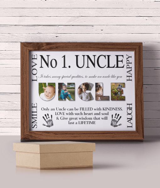 No 1 UNCLE Personalised Photo Gift Fathers Day Gifts