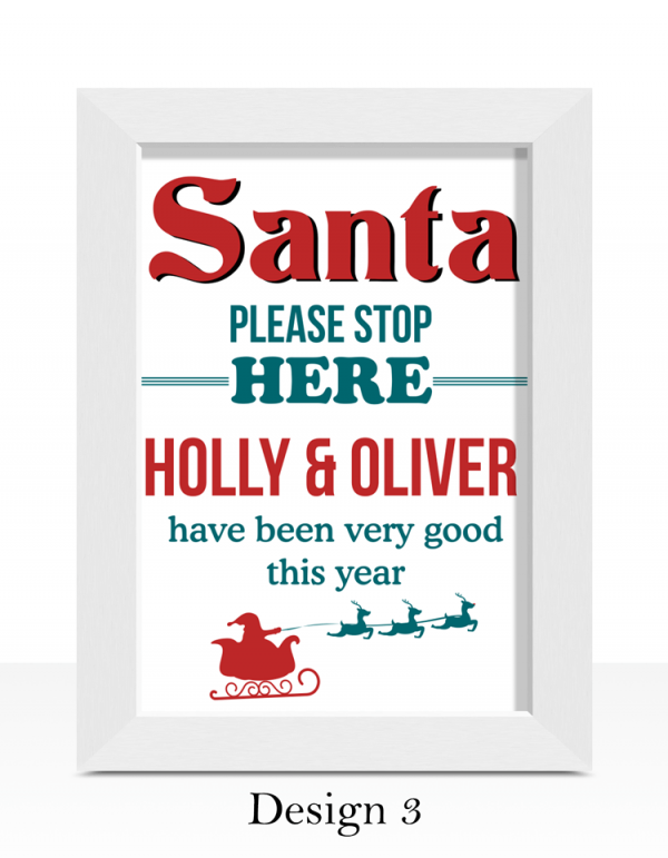 Santa Please Stop Here – Christmas Print Christmas