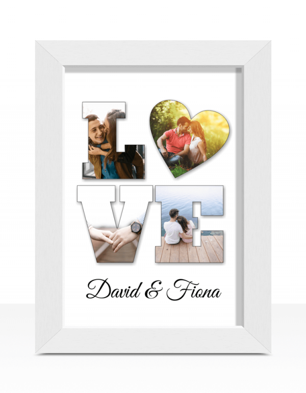 Personalised LOVE Photo Gift Print Engagement Gifts