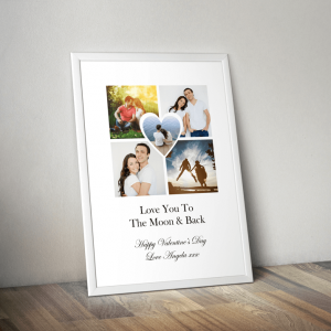 Personalised Heart Photo Print Anniversary Gifts