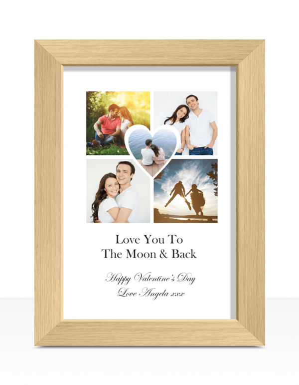 Personalised Heart Photo Print Anniversary Gifts