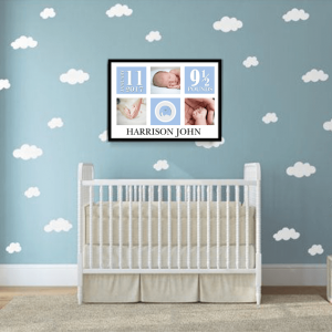 Personalised New Baby Boy Photo Gift Baby Shower Gifts