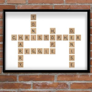Crossword Style Word Print Anniversary Gifts