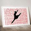 Personalised Dancer Word Art Gift Dance
