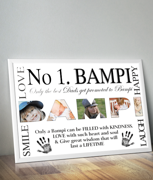 No 1 BAMPI Personalised Photo Gift Fathers Day Gifts