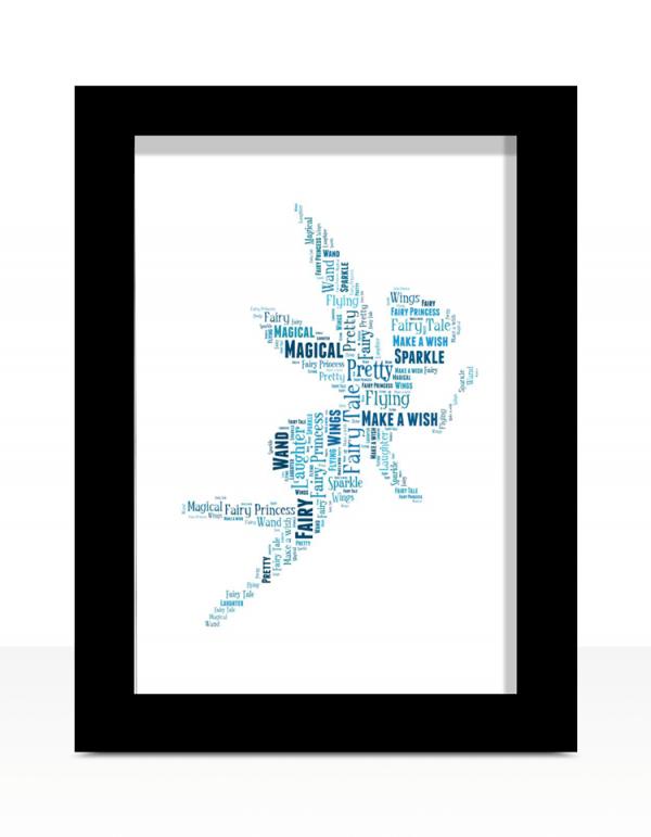 Fairy Word Art Print Gifts For Children