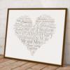 Silver Wedding 25th Anniversary Word Art Gift Anniversary Gifts