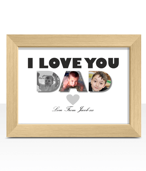 I / We Love You Dad – Photo Print Fathers Day Gifts