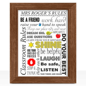 Personalised Teachers Rules Print – Teacher Gift Teacher Gifts