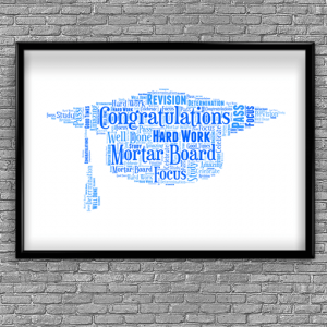 Graduation Gift – Mortar Board Hat Word Art Gifts For Her