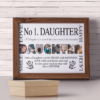 No 1 DAUGHTER Personalised Photo Gift Gifts For Her