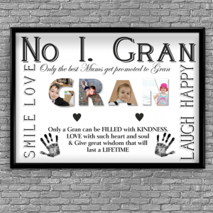No 1 GRAN Personalised Photo Gift Gifts For Grandparents