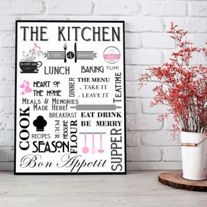Stylish Kitchen – Diner Wall Art Print Kitchen