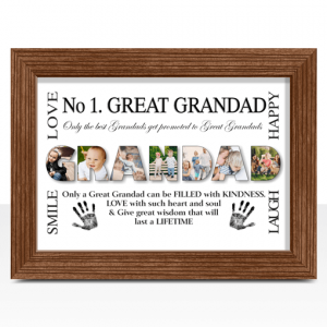 No 1 Great GRANDAD Personalised Photo Gift Fathers Day Gifts