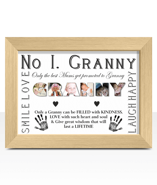 No 1 GRANNY Personalised Photo Gift Gifts For Grandparents