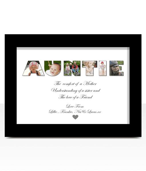 Personalised AUNTIE Photo Gift Auntie