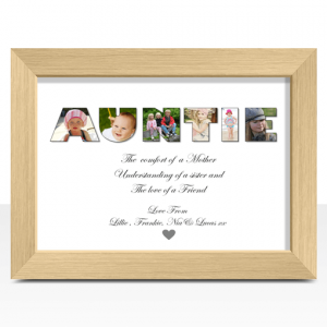 Personalised AUNTIE Photo Gift Auntie