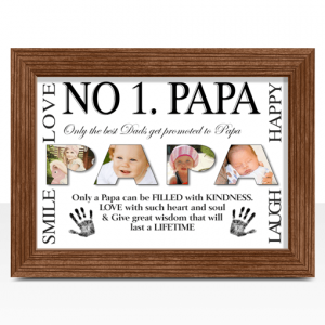 No 1 PAPA Personalised Photo Gift Fathers Day Gifts