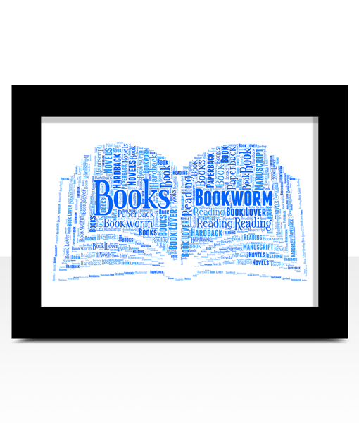 Personalised Book Word Art Print Gifts For Her