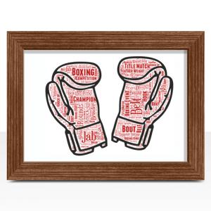 Boxing Gloves Word Art Sport