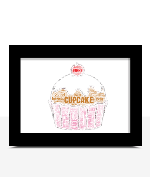Personalised Cupcake Word Art Baby Shower Gifts