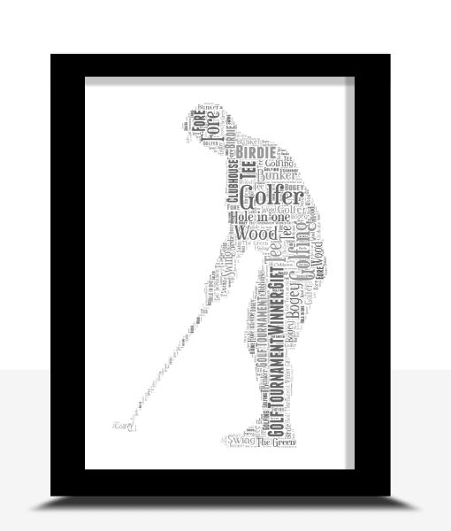 Golfer – Golf Word Art Print Sport