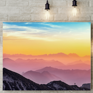 Rainbow Sky Picture Canvas