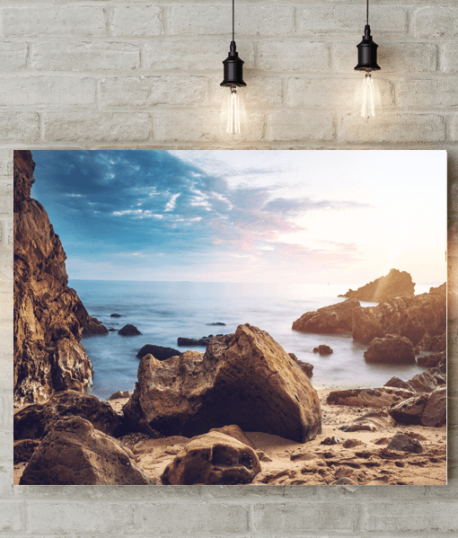 Rocky Beach Picture Canvas