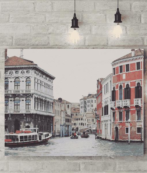 Venice Water Scene Picture Canvas