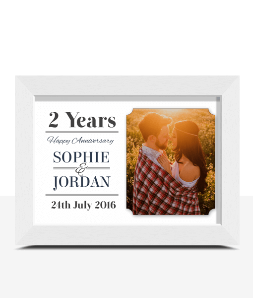 Personalised Wedding Anniversary Photo Frame Gift Anniversary Gifts