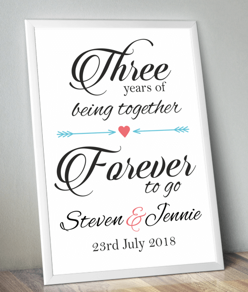Personalised Anniversary Print – Forever To Go Anniversary Gifts