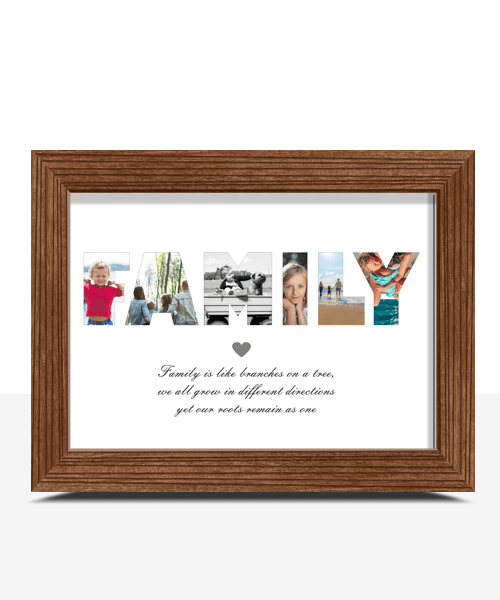 Personalised FAMILY Photo Print Family