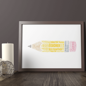 Pencil Word Art Print Graduation Gifts