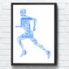 Running Man Word Art Print Gifts For Him
