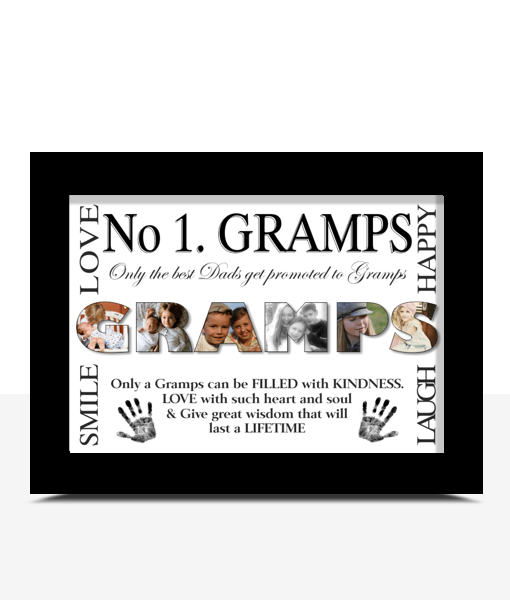 No 1 GRAMPS Personalised Photo Gift Fathers Day Gifts