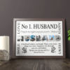 No 1 Husband Personalised Photo Gift Fathers Day Gifts