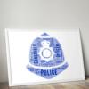Policeman Helmet Word Art Print Gifts For Him