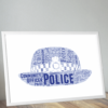 Policewoman Hat Word Art Print Gifts For Her