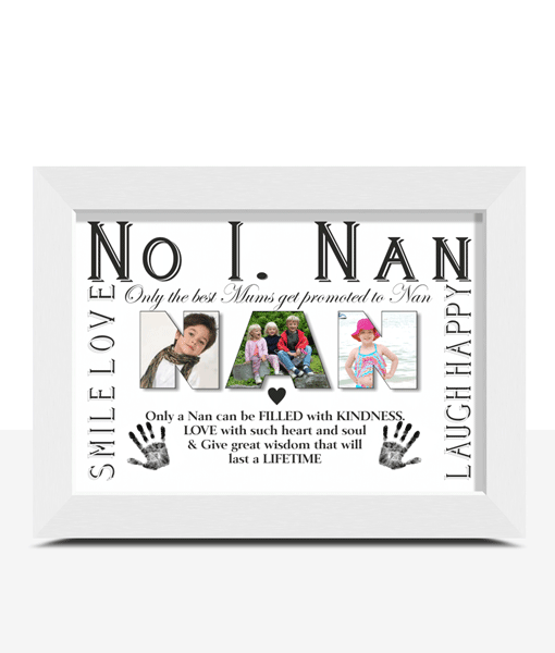No 1 NAN Personalised Photo Gift Gifts For Grandparents