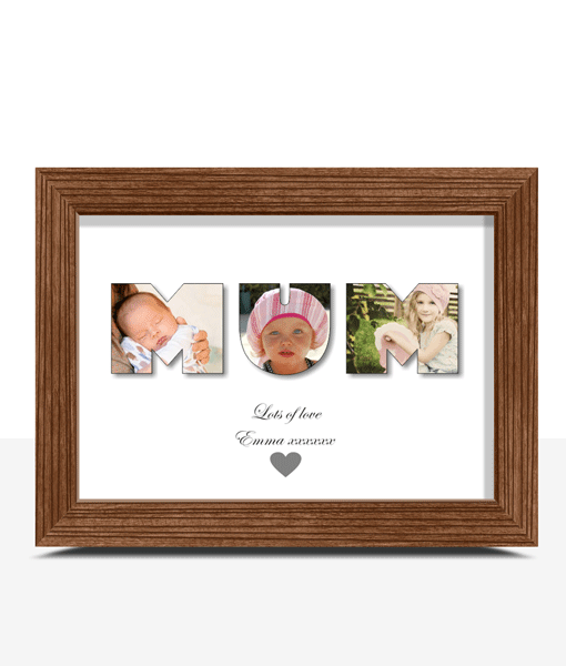 MUM Photo Word Art Gift Gifts For Her