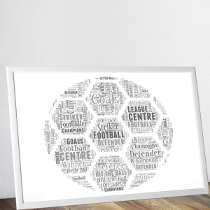 Personalised Football Word Art Fathers Day Gifts