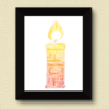 Candle Word Art Print Christening Gifts