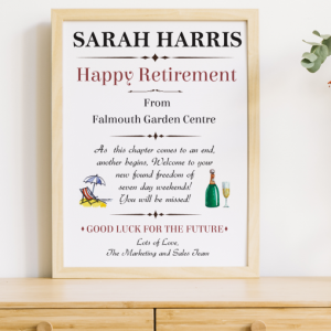 Happy Retirement Personalised Gift Gifts For Her