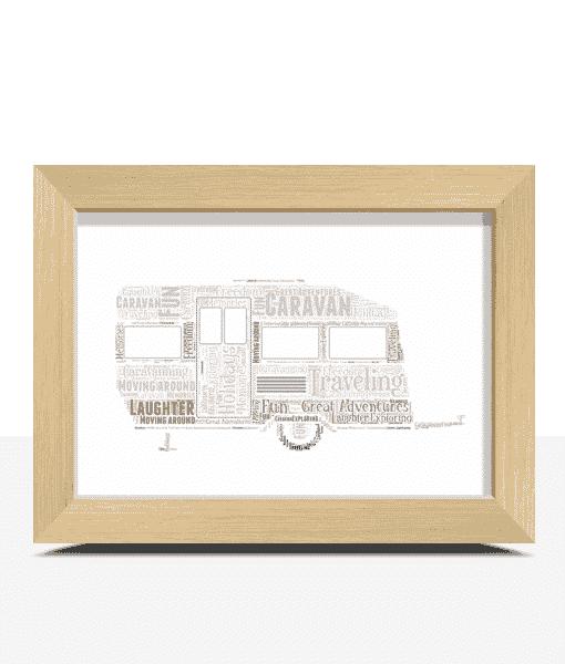Caravan Word Art Print Travel