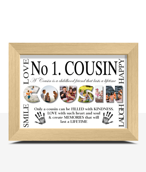 No 1 COUSIN Personalised Photo Print Family